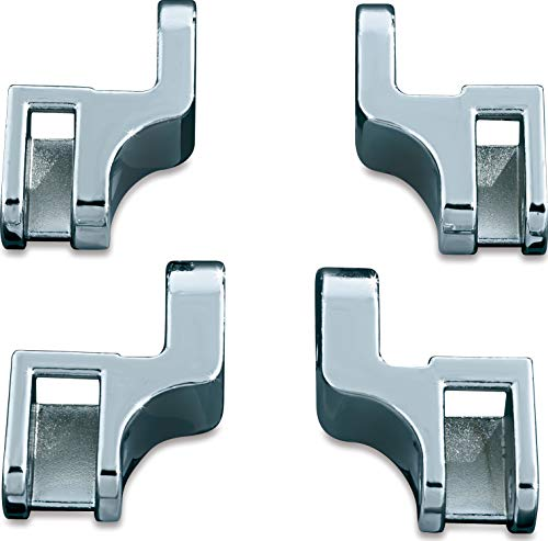 Kuryakyn 7528 Motorcycle Foot Control Component: Driver Floorboard Relocation Brackets for 2000-17 Harley-Davidson Softail Motorcycles, Chrome (Iso Swept Wing)