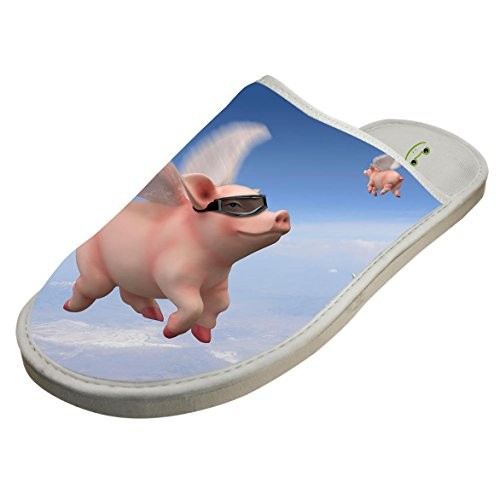 Winter Cotton Flying Cool Pig Antiskid House Slippers Baboosh Indoor Slippers by 4B854DF6B