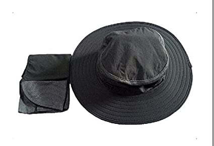Outdoor Flap Hat //Boonie for Fishing,hunting,hiking,garden Work and Other Outdoor Activities with Wind Rope 3s UPF 50
