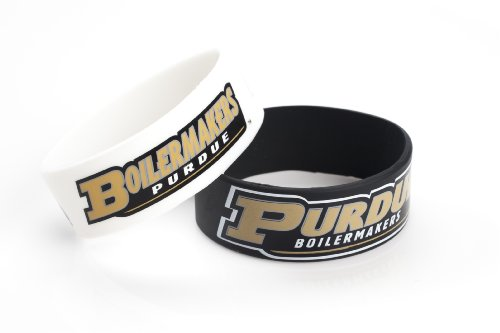 NCAA Purdue Boilermakers Silicone Rubber Bracelet, 2-Pack