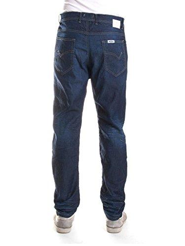 Scuro Fit Blu Carrera Uomo 011 Loose Jeans Lavaggio 8qx0vPRn