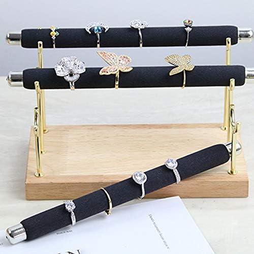 Moligh doll Pr/éSentoir de Bijoux en Bois Support de Bague Pr/éSentoirs en T-Bar Bracelets de Cheville Pr/éSentoir de Bijoux Emballage Outil de Bijoux 1