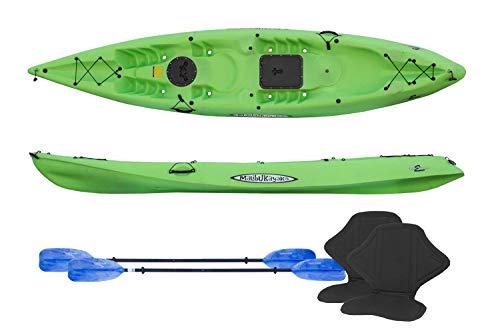 Malibu Kayaks Pro 2 Tandem Recreation Package Sit on Top Kayak, Lime