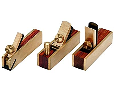 Power Tools 3pc Micro Brass Block Plane, Bullnose & Scraper 4 Wood Working Craft Planar Tool by Power Tools