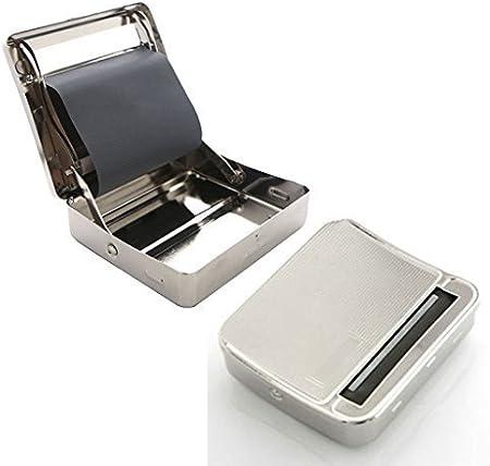Guaranteed4Less Metal caja de lata para liar cigarrillos, liadora automática con rodillo: Amazon.es: Hogar