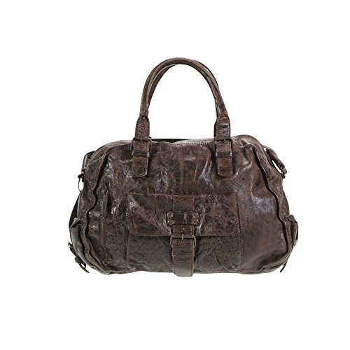 Billy the Kid Jacky Bolso de mano piel 44 cm Chocolate