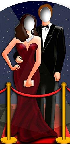Cartonato Hollywood Couple Stand in appoggio Standup statuetta cinema espositore di cartone statuetta card board vita sgross Life-size Standup