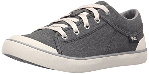 Teva Women's W Freewheel Washed Canvas Shoe, Black/Grey, 9 M US