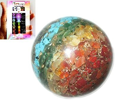 New Chakra Layer Gemstone Orgone Sphere Ball Chakra Unique Cleansing Crystal Gemstones Copper Metal Mix Rare Healing Positive Energy Tetrahedron Sacred Geometry Memory Concentration Meditation Spiritual Psychic Piezo Electric Effect Business Massage Ball Therapy Prosperity Success Destress Anxiety Disorder Love Power Mental Peace Strength Divine X-mas Mother's Day Father's Day Thanks Giving Birthday Anniversary Thinking of You Sorry Hug Get Well Soon Husband Wife Grand Father Children Pregnant Ladies New Born Babies Memory Motivation Inspiration Dream Reality Imagination Pagan Wicca Om Mantra Holy Pious Auspicious India Asia Negative Ion Enhancer Electromagnetic Waves Positive Frequency Valentine Celebration Event Function Office Opening Altar Worship Idol God Lord Sir Students Concentration Fortune Teller