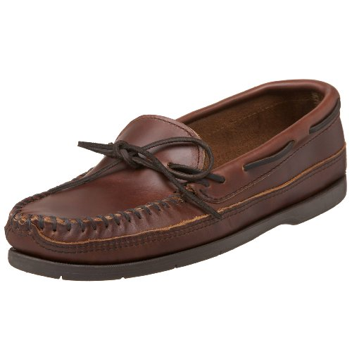 Minnetonka Men's Double Bottom Slip-On,Brown,9 M US