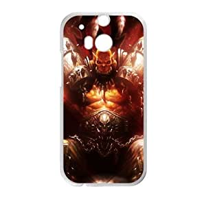 HTC One M8 White phone case World of Warcraft Garrosh Hellscream WOW9013922