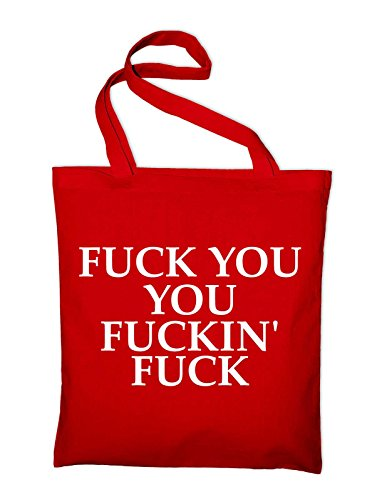 Plastic Jute Bags Fun Red Yellow yellow Bag Fuck Styletex23bagsfuckyou7 You Cotton Ew1q1X