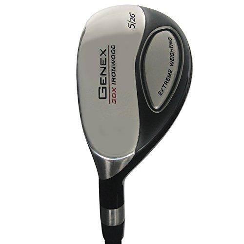 Nickent Golf Left-Hand 3DX Genex Ironwood Hybrid, 5(26Graphite SR2.5 Senior - Nickent Golf 3dx