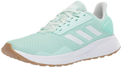 adidas Women's Duramo 9 Running Shoe, Clear White/ice Mint, 9 M US ()