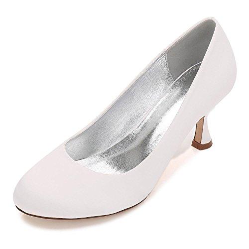 L@YC Boda de Las Mujeres 17061-25 Peep Toe Clips Bombas Zapatos de La Corte Zapatos de La Boda Zapatos de Novia de La Boda Ivory