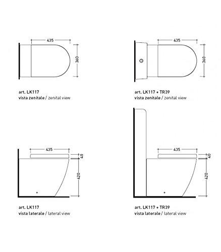 Link Flaminia 5051/cw02/Soldier Asiento para inodoro en termoestable blanco