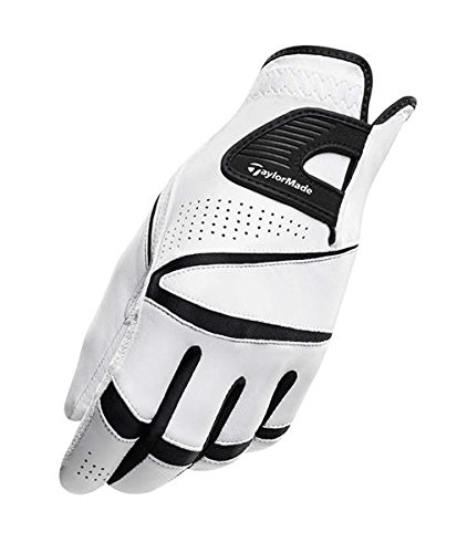 Men Golf Glove (TaylorMade TM15 Stratus Sport Gloves , Left Hand, X-Large, White)