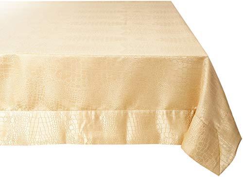 Violet Linen Luxurious Damask Crocodile Design Tablecloths, 60