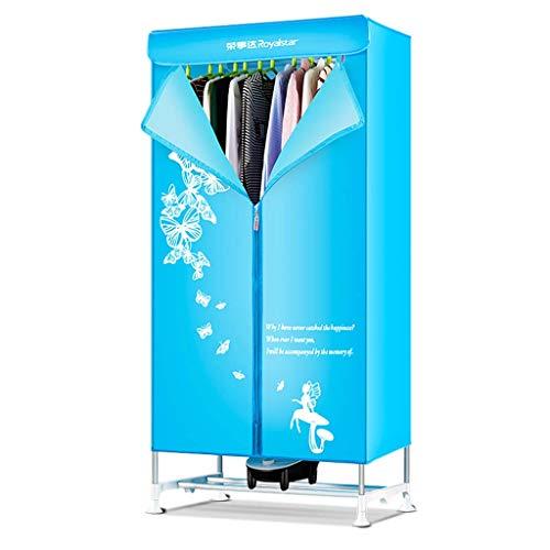 YHz@HaushaltswäSche Trockner, Kleiderschrank Schnell Trocknender Trockner, Energiesparender Kleiner Trockner, 900w-Blau