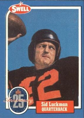 Sid Luckman football card (Chicago Bears) 1988 Swell  120 Football Greats 47d7b19bd