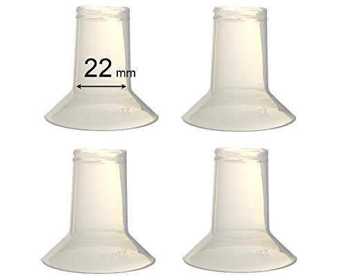 (Maymom Breast Pump Reducing Flanges for Ameda Purely Yours Breast Pump, BPA Free, Fit on 25 mm Ameda Flange & Reduce to 22mm; 22 mm - 4 Pack)