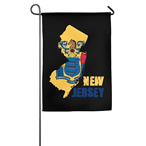 Flag Map Of New Jersey Garden Flag 12 X 18 Inch Size For Holiday Seasonal - Gardens Jersey Map