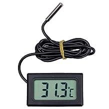 Mini LCD Refrigerator Freezer Fridge Digital Thermometer Black