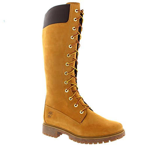 Womens Timberland 14 Inch Premium Leather Knee High Rain Winter Boots - Wheat - 6