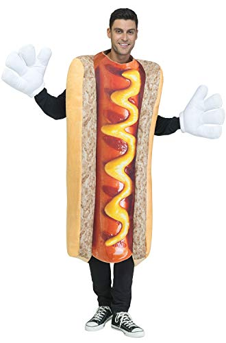 Fun World Men's Photoreal Hot Dog, Multi, Standard]()