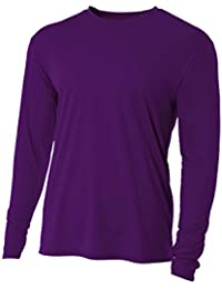 Men's UPF 30+ Performance Long Sleeve T-shirt with Sun Protection