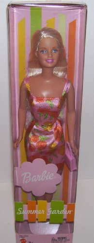 Summer Garden Barbie Doll in Orange and Pink Flowered Print (Barbie Garden)