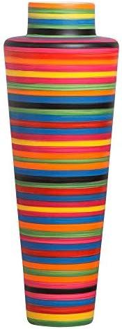 Vaso de Chão Grande Colorido Paris em Cerâmica Colors