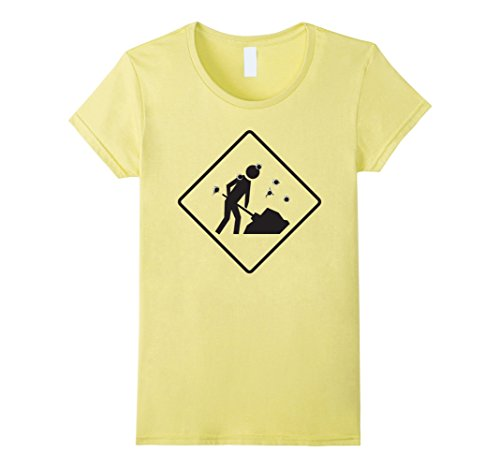 Womens Men Working Road Sign Halloween Costume TShirt Construction Medium (Road Sign Halloween Costumes)