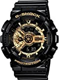 G-Shock Mens Military GA-110 Watch, Black/Gold, One Size