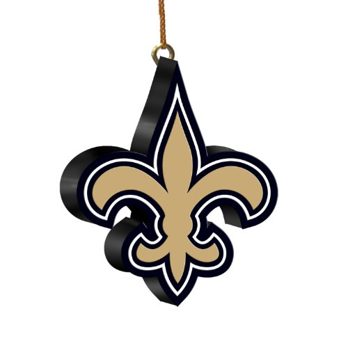 NFL New Orleans Saints 3D Logo Ornament