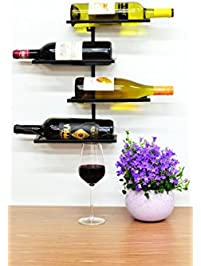 superiore livello pisa 4 bottle wall mounted wine rack industrial style living wall mounted metal