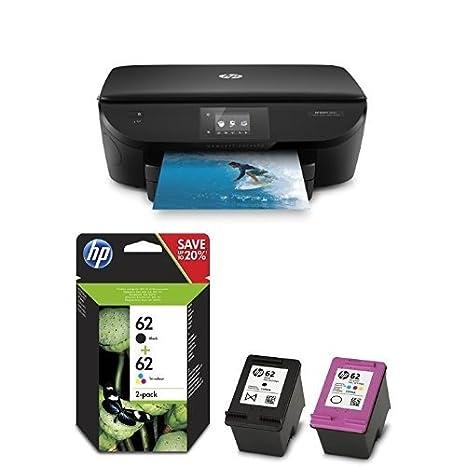 HP ENVY 5640 Pack - Impresora multifunción + Pack de ahorro de 2 ...