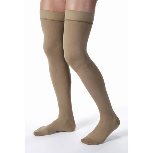 Jobst for Men 20-30 Thigh High Closed Toe Compression Socks-X-Large-Black by Jobst Stockings