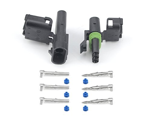 (Michigan Motorsports WEATHER PACK 3 PIN CONNECTOR KIT 5 Sets 12-16 AWG Wire with WEATHERTIGHT quick connect locking terminals. (3 PIN))