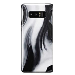 Samsung Note 8 case Black White Marble Print Slim Profile Clear Wrap Around Phone Cover