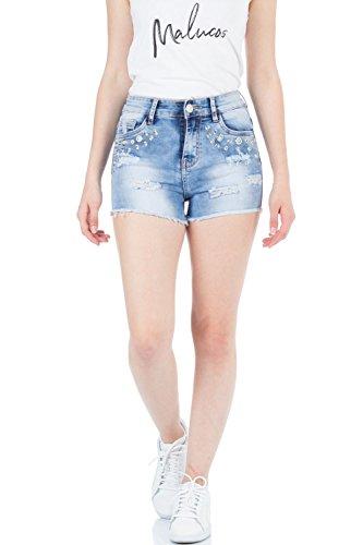 Jeans malucas Bleu Taille Femme Bleu Ajuste Bleu FqC7dqw