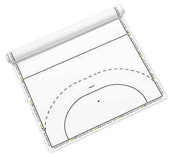 Taktifol balonmano - hojas tácticas para entrenadores - rollo con 25 hojas