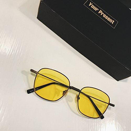 Gafas Gafas VVIIYJ Color Gafas Verde Espejo Porn Hombre Sol Marinas plano de Sol Transparente Cuadrado Película de 00Fvq