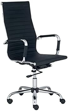 High-Back Leather adjustable Rotating Office Chair Computer Desks Conference Rooms Black