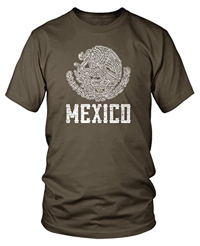 Amdesco Men's Mexican Coat of Arms, Coat of Arms of Mexico T-shirt, Dark Chocolate Small (Coat Of Arms Dark T-shirt)