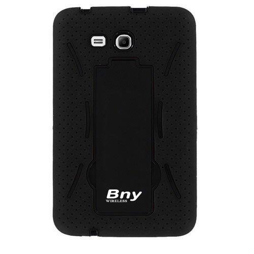 "Heavy Duty Hybrid Case Cover Skin for Samsung Galaxy Tab 3 7"" LITE T110- BLACK (IT doesn't fits samsung tab3 7"" T210 P3200 P3210 .)"