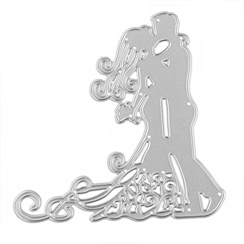 Stitch Shimmer (Tosangn_home Couple Metal Cutting Dies Stencil DIY Scrapbooking Embossing Album Paper Card Craft For Wedding)