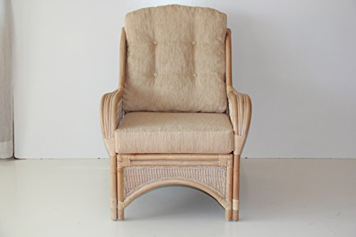 Lounge arm chair eco natural handmade rattan wicker with