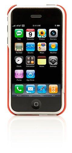 Cygnett GrooveShield Form Hard Skin Case for iPhone 3G/3GS - Red - 3gs Hard Case