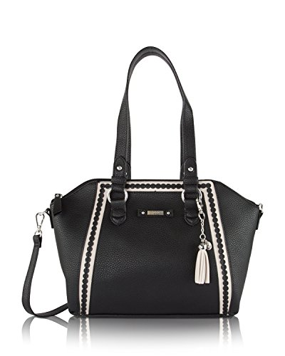 Jessica Simpson Women's Winnie Satchel Black Handbag
